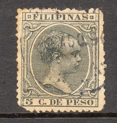 Philippines 1890s Classic Alfonso Used Value 5c. 182466