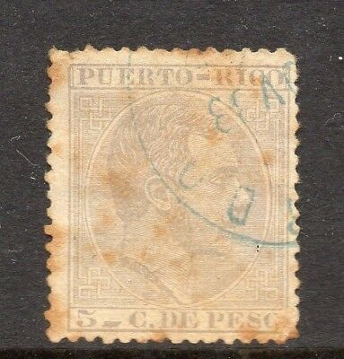 Philippines 1880s Classic Alfonso Used Value 5c. 182428
