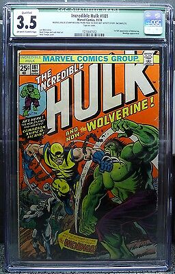 Incredible Hulk #181 CGC 3.5 Qualified OW/W 1st Appearance of Wolverine