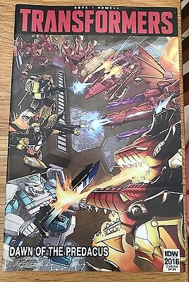 Transformers Dawn Of The Predacus Comic Botcon Tfcc Rare