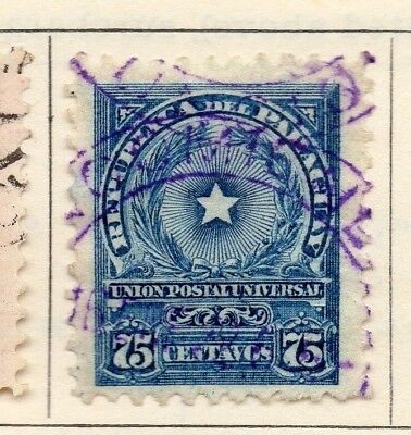 Paraguay 1913 Early Issue Fine Used 75c. 181469