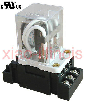 New JQX-38F 120VAC 40A 11 Pin 3PDT Coil Power Relay With Socket - R40A120VAC
