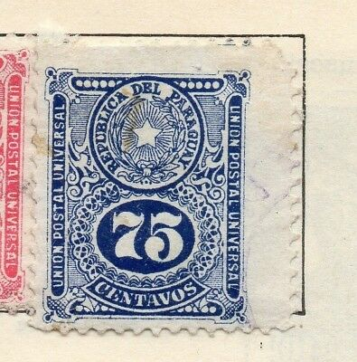 Paraguay 1910 Early Issue Fine Mint Hinged 75c. 181455