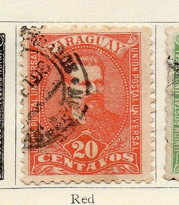 Paraguay 1892 Early Issue Fine Used 20c. 181402