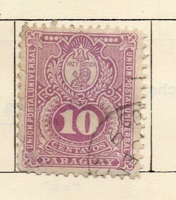 Paraguay 1889-93 Early Issue Fine Used 10c. 181397