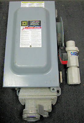 Square D H361AWC Fusible Disconnect Switch With Plug & Receptacle