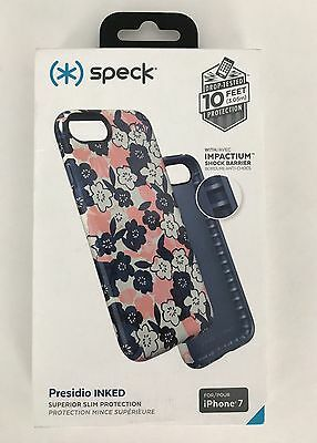 huge selection of e4955 ac903 Speck Inked IPhone 7 Case Marbled Floral Peach Matte New In Box