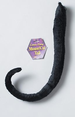 Black Mouse Cat Long Curled Animal Tail Child Adult Halloween Costume Accessory
