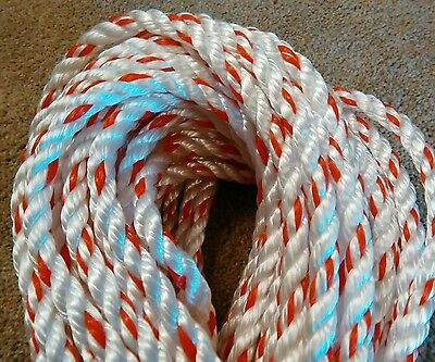 New 150 Feet of 1/2 inch 3 strand polyester combo rope(arborist bull  rope)