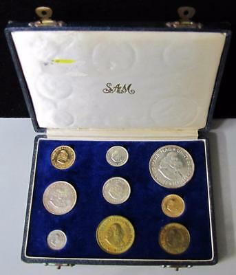 1964 South Africa (9) Coins Proof Set, Included (2) Gold & (5) Silver Coins!