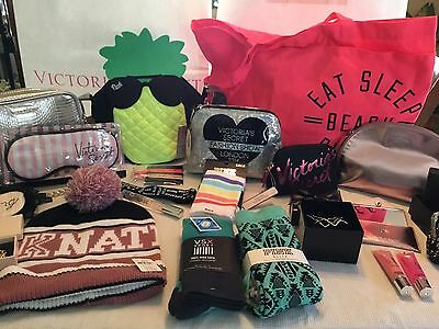 Victoria's Secret PINK Mixed Accessories Wholesale Lot Socks Totes Perfume NEW