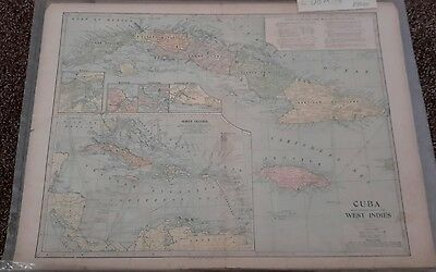 Map of Cuba and the West Indies 1899