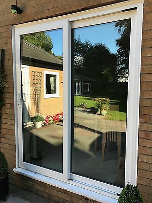 White upvc sliding patio doors picclick uk for Double wide patio doors