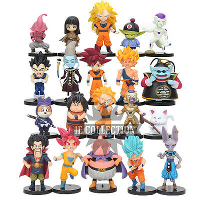 Dragon Ball Super 20 Estatuillas Personajes Action Figura Sayan Goku Azul Rosa Z