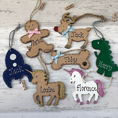 Personalised Baby Boy Girl First 1st Unicorn Reindeer Christmas Tree Decoration