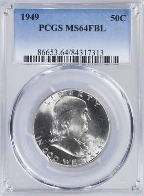 1949 Franklin Half PCGS MS64FBL
