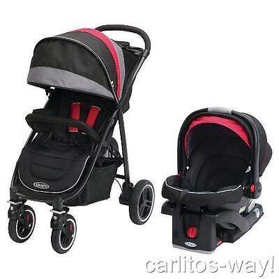 Graco Aire 4 XT Black Red Baby Stroller and Car Seat Travel System MARCO New