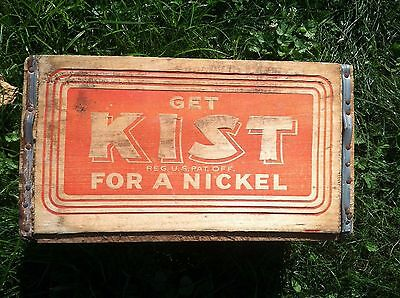 "Kist Wooden  Soda Crate ""get Kist For A Nickel"" - Rare & Very Nice!"