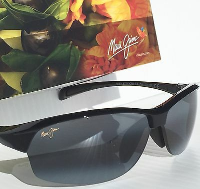 NEW* Maui Jim RIVER JETTY BLACK - Maui Gray POLARIZED Women's Sunglass 430-02