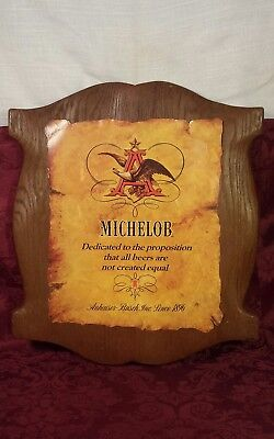 Vintage Michelob Anheuser Busch Beer Sign