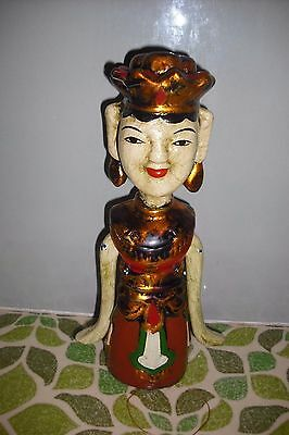 Vintage Chinese Woman Puppet Pull string