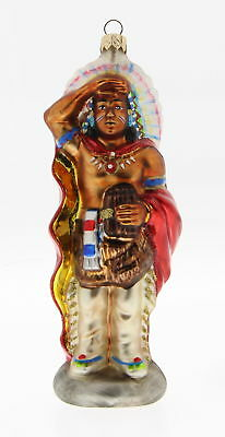 KURT S. ADLER POLONAISE Christmas Cigar Store Indian Chief Native American