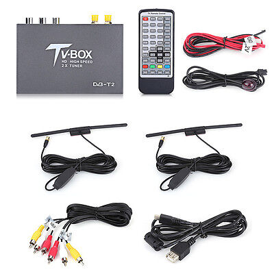 DVB-T Multi-media Mobile Car Digital TV Box Antenna Tuner Signal Receiver 1080P