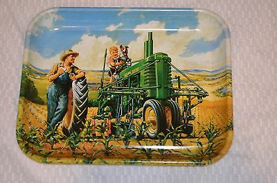 JOHN DEERE LUNCH TIME  METAL TRAY - MODEL B TRACTOR MFG 1997 Hinton