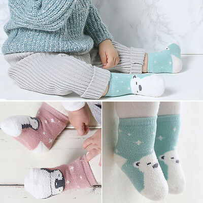 0-4Y Toddler Cartoon Socks Anti-Slip Cotton Baby Girls Boy Kids Warm Ankle Socks