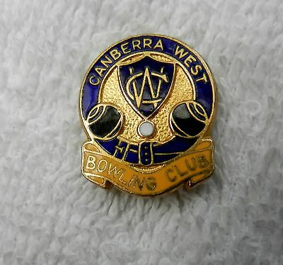 Canberra West Bowling Club (Act) Badge