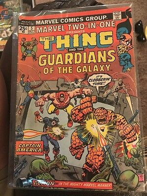 Marvel Two-In-One #5 Thing and The Guardians Of The Galaxy 1974 2nd appearance !