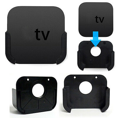 1x Media Player Wall Mount Case Bracket Holder Stand Cradle For Apple TV 4th Gen