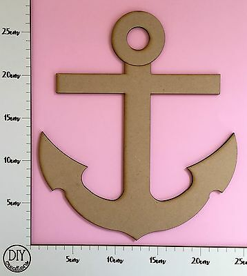 MDF Nautical Anchor - Wooden Craft Shape - DIY Decor for Adults and Kids