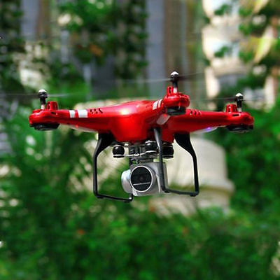 RC Quadcopter Drone Mit WiFi FPV Live HD Wide Angle Lens Kamera Hubschrauber Rot