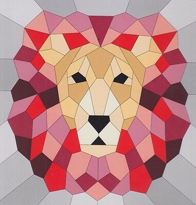 The Lion - English paper piecing quilt PATTERN - Violet Craft