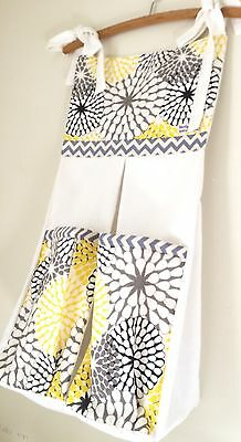 Baby Nappy/ Diaper Stacker -Retro style Yellow & grey.  Made to order