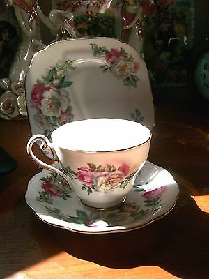 "Lovely TEA CUP/SAUCER/PLATE ""Royal Standard"" Irish Elegance ROSES"