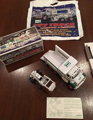 2008 HESS TOY TRUCK AND FRONT LOADER NEW IN BOX  & Bag