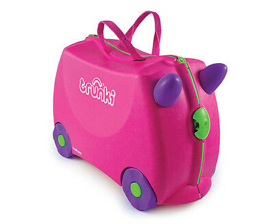 Pink Trunki Trixie, designed to use as hand luggage. With Lock