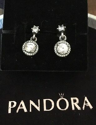 Pandora Circle Drop Earrings 290594cz Authentic Ale 925 Like New