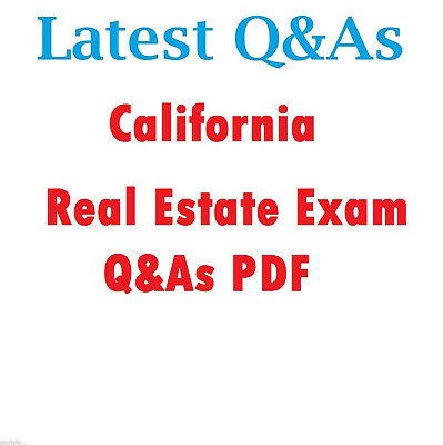 2019 CALIFORNIA REAL Estate Exam Questions and Answers Study