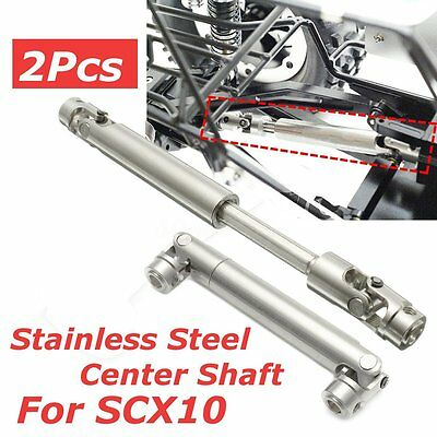 2Pcs 110-155mm Steel Center Universal Drive Shaft for Axial SCX10 1:10 RC Car