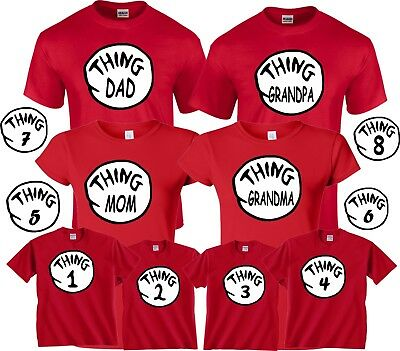 73d339bd THING 1 2 T-Shirts Thing Mom Dad Grandma All sizes Halloween Dr ...
