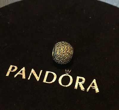 Pandora Gold Pave Charm 791052fcz Like New Authentic Ale 925