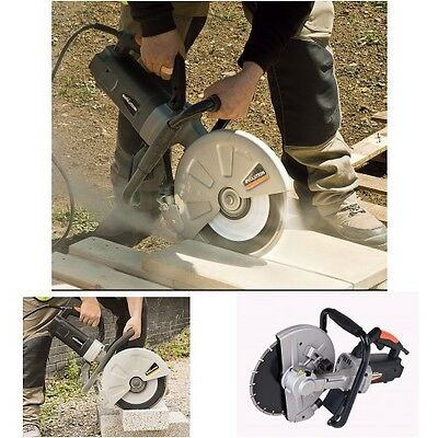 12'' Electric Saw Disc Concrete Cutter Tool Cuts Brick Blocks Stone 4'' Depth