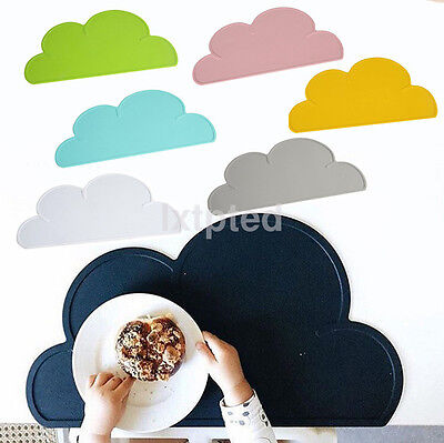 Silicone Cloud Insulation Pad Kid Baby Dining Table Kitchen Placemat Place Mat~