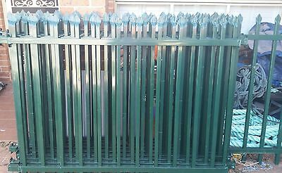 Galvanised Fencing Forest Green Spear Panels x 10