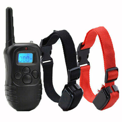 Pet Dog Training Collar Rechargeable Electric LCD 100LV Shock (One Collar) USA