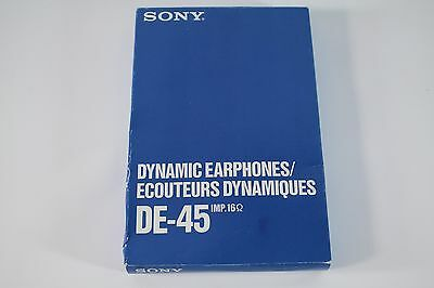 Sony DE-45 IMP.16 ohm Dynamic Earphones Transcription Dictation NEW UNUSED phone