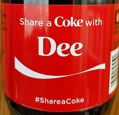 Summer 2015 Share A Coke With Dee Personalized Coca Cola Collectible Bottle